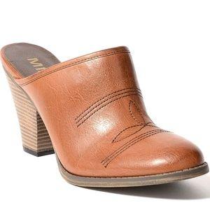 Mia Crimson mules /slip on clogs size 10 brown/tan